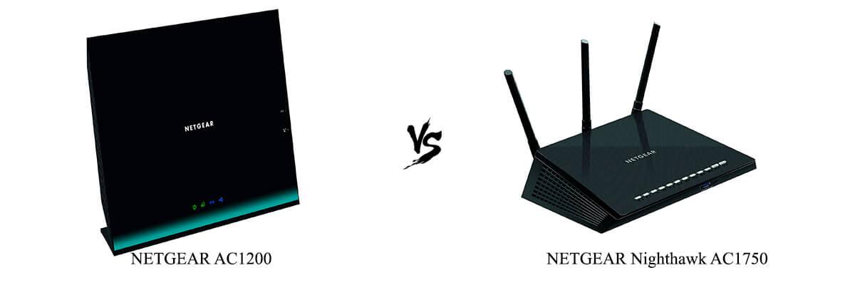 NETGEAR AC1200 vs NETGEAR Nighthawk AC1750 comparison chart